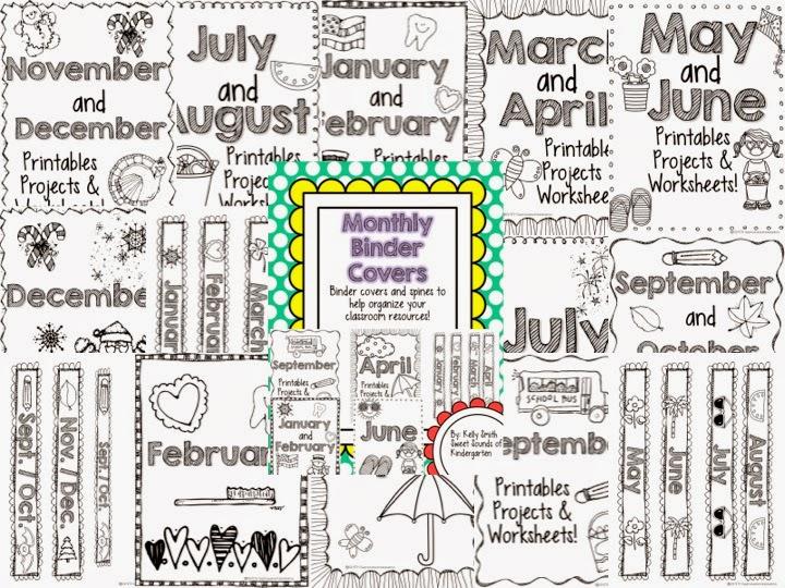 Classroom Organization  Binder Covers!
