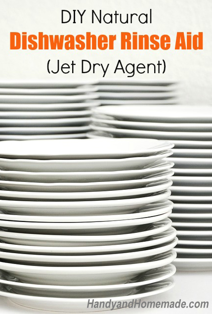 DIY Homemade Natural Dishwasher Rinse Aid Recipe (Jet Dry Agent)