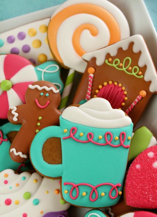 Decorated Candy Cookies and Free Kopykake Template \u2013 The Sweet