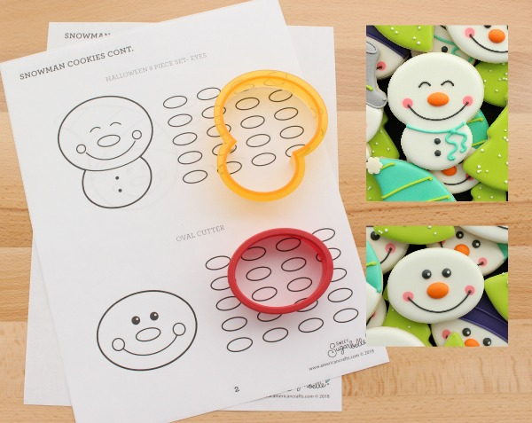 Printable Snowman Cookie Decorating Templates and Royal Icing
