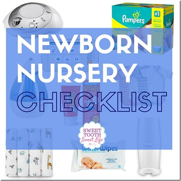 Nursery Checklist - newborn checklist
