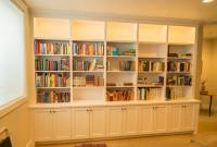 Painted Bookcase with remote controlled LED lighting ...