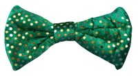 St Patricks Day Bow Tie - Green w/Spots