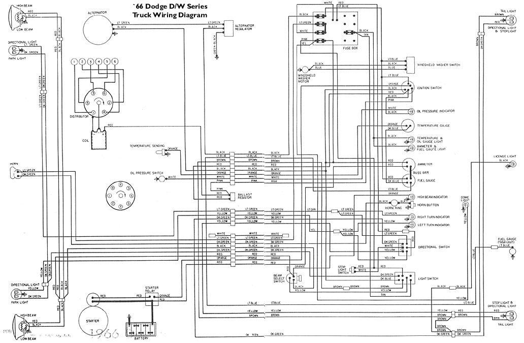 1966 Dodge Wiring Schematic Wiring Diagram