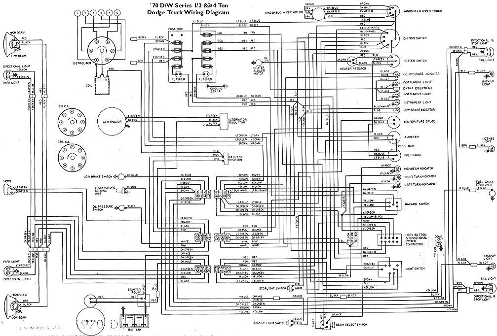 70 Mopar Wiring Diagram - Wiring Data Diagram