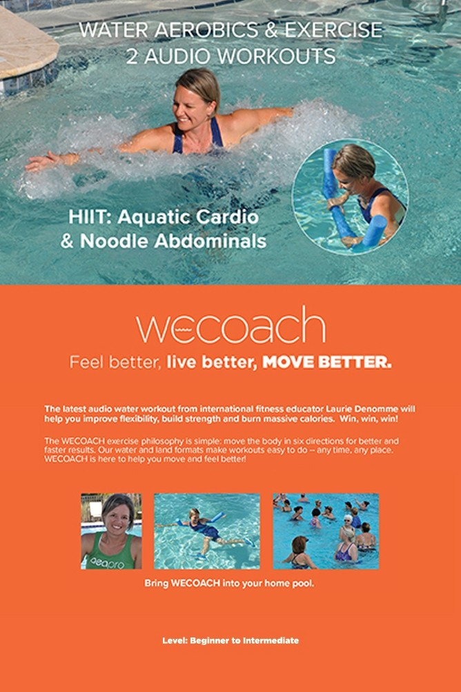 WECOACH 2 Water Aerobics and Exercise Workouts HIIT Aquatic Cardio