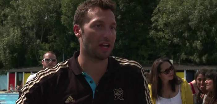 Ian Thorpe supports the Join In weekend at Tooting Lido swimming pool