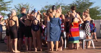 First-years swimming gala on the University of the Free State's Bloemfontein Campus