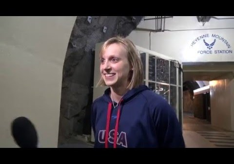 Katie Ledecky on National Team Visit to NORAD