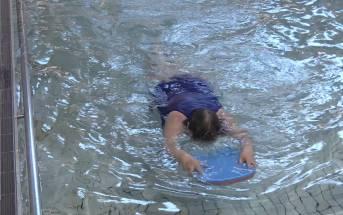 Christchurch gran learning to swim