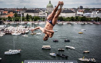 Diving from the Roof of the Copenhagen Opera House | Cliff Diving World Series 2016