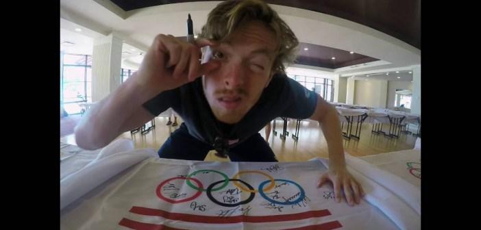 2016 U.S. Olympic Team Flag Signing