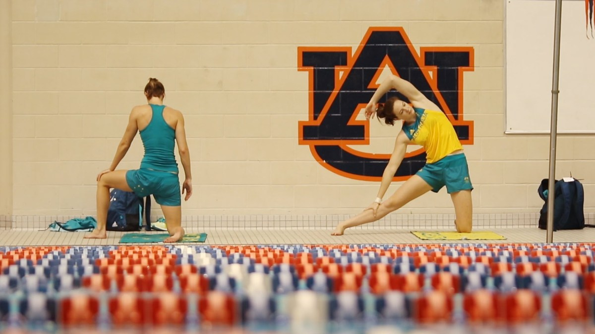 Australian Swim Team in Auburn, Alabama