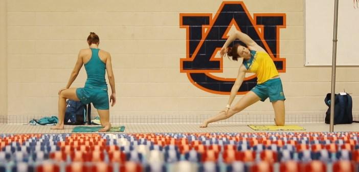Australian Swim Team in Auburn, Alabama