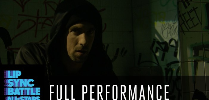 Swim Shady: Michael Phelps puts on 'Phelps face' while lip syncing Eminem