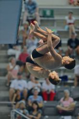 KNOXVILLE, TN - August 5, 2014: Synchro Dinsmore/Brady during the 2014 USA Diving Age Group and Junior National Event at Allan Jones Aquatic Center in Knoxville, TN. Photo By Matthew S. DeMaria