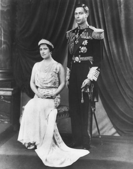 The official portrait of Britain's King George VI and Queen Elizabeth (the Queen Mother) was released in 1937 in connection with their coronation