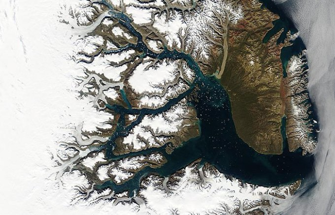 The east coast of Greenland
