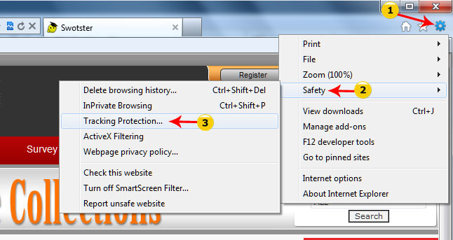 Lesson 7 Tracking Protection and ActiveX filtering - Swotster