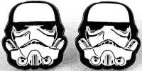 Star Wars Stormtrooper Head Metal Pierced Earrings | eBay