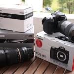 Canon 70D med Sigma A 18-35 F1.8 linse, og Tameron 70-300 F4-5,6