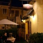 Lokal restaurant i Atri. Hare og gnocchi på menyen.