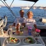 Herlig middag ombord :)