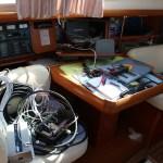 Skipper'n som elektriker ombord.