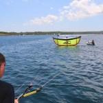 Det lengste kiten har kommet på turen.... 1 min senere fikk vi beskjed om at det ikke var lov å kite på Mallorca,....