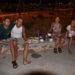 Miriam og Kristoffer kommer ombord i Porto Torres! Veldig hyggelgi middag i havna!