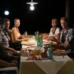 Super pizzakveld ute i Arguineguin rett ved siden av den Norske Sjømannskirken!