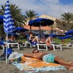 Strandliv i Los Americas på Teneriffe