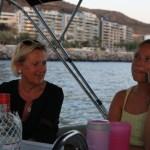 Merete og Tore fra Sande ombord på en drink :) Ingunn måtte bare ringe til Silje, gjett om hun ble overasket!