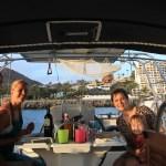 Maren og Anette klare for første middag ombord.