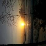 Solnedgang fra stamstrandcafeen