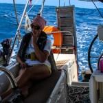 Betenkt førsteoffiser på seilas fra Antigua til Guadeloupe