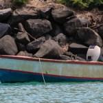 En av båtene til den mistenkte innbruddstyven. Vi ga tips til politiet, men aner ikke om det ble fulgt opp...