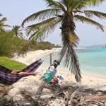 Ingen andre enn oss på hele Petit Tabac, Tobago Cays