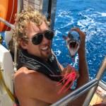 Endelig fikk vi fisk igjen, denne gangen en barracuda!
