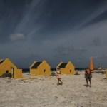 Slavehyttene på sørspissen av Bonaire