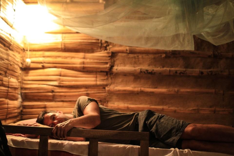 Morten prøveligger senga før leggetid