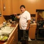 Hjemme hos JC vanket det mye god mat og drikke.