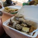 Rondon. En bit av alt i gryta. Søtpotet, dumplings, grisehale, conch, fisk, og og og.