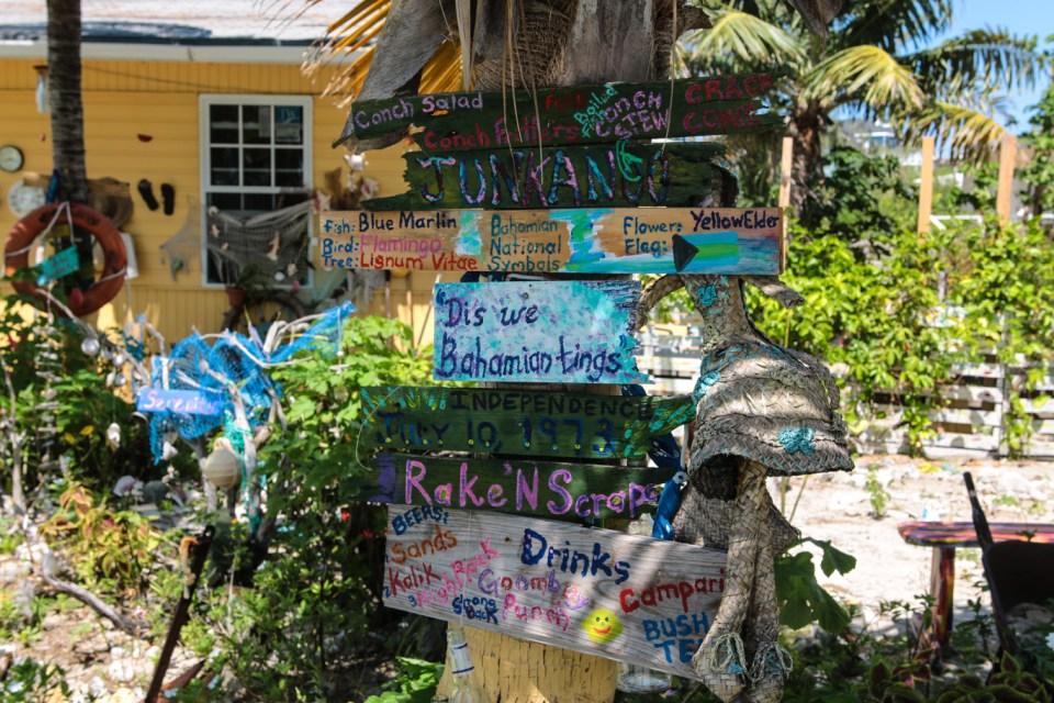 Karibisk stil på Staniel Cay.