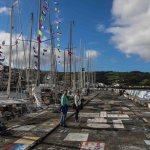 Havna i Horta er proppfull av alle båtene som har seilt over Atlanteren og hatt havn her.