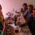 Feiring av kryssingen skjedde på en portugisisk familierestaurant.