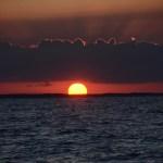 En av de få solnedgangene vi fikk på havet.