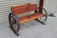Wagon Wheel Bench Seat | The Wagon
