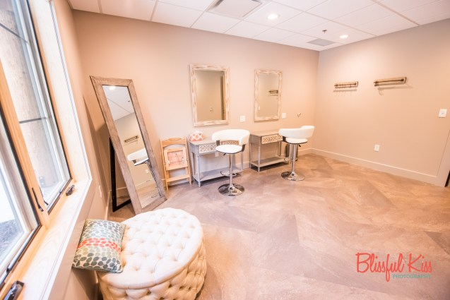 Bridal Suite Hair & Makeup Room