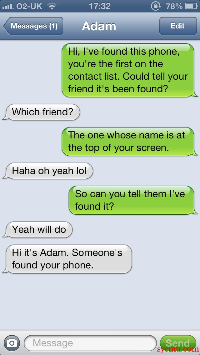Can you tell your friend he's lost his phone?